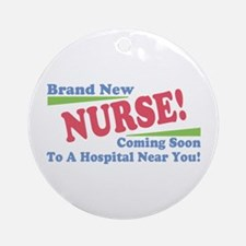 Brand New Nurse Student Ornament (Round)