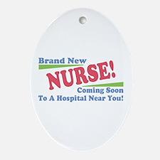 Brand New Nurse Student Oval Ornament