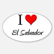 I Love El Salvador Oval Decal