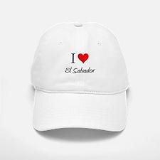 I Love El Salvador Baseball Baseball Cap