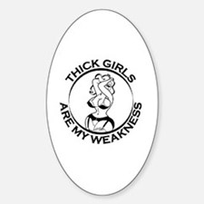 Funny Fat chicks Sticker (Oval)