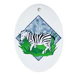 Zebra Keepsake (Oval)