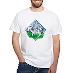 Zebra White T-Shirt