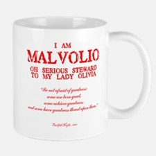 Malvolio (red) Mugs