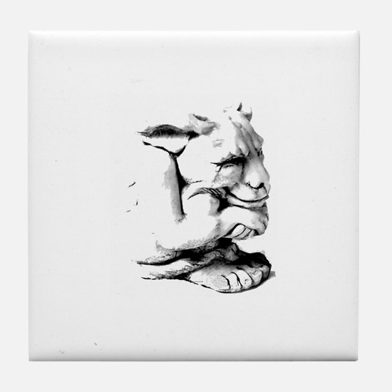 Cute Dragon on castle Tile Coaster
