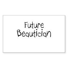 Future Beautician Rectangle Decal