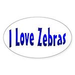 Zebra Oval Sticker