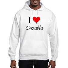 I Love Croatia Hoodie Sweatshirt