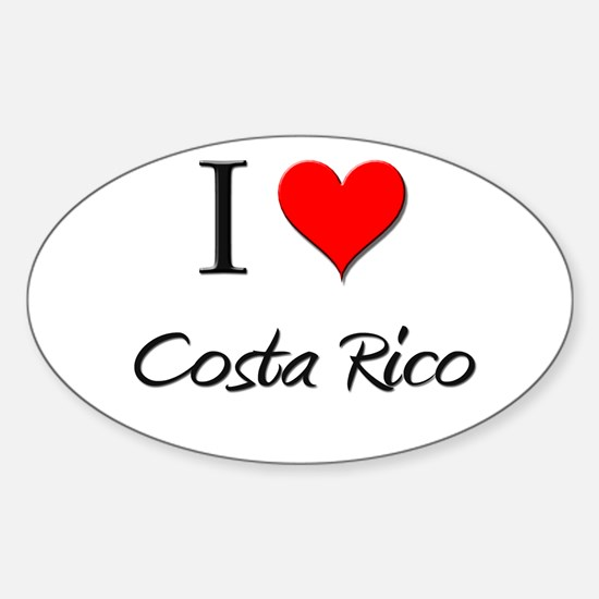 I Love Costa Rico Oval Decal