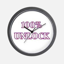 100% Unlock Wall Clock