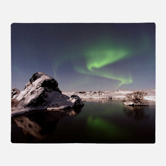 Unique Northern lights Throw Blanket