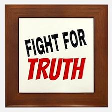 Fight For Truth Framed Tile