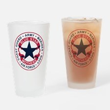 Unique Blue star mothers flag Drinking Glass