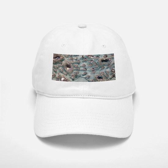 aqua silver sequins lace Baseball Baseball Cap