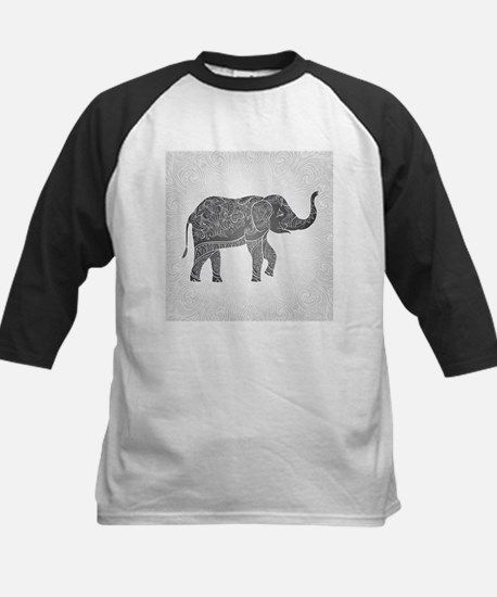 Indian Elephant Kids Baseball Jersey