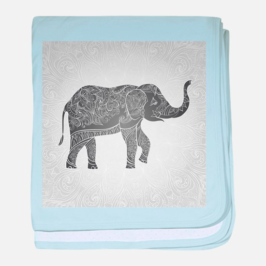 Indian Elephant baby blanket