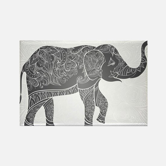 Indian Elephant Rectangle Magnet