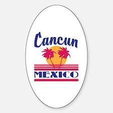 Cute Cancun Sticker (Oval)