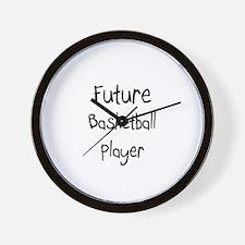 Future Basketball Player Wall Clock