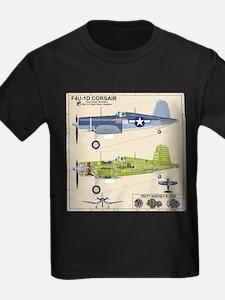 F4U Corsair Pappy Boyington Black Sh T-Shirt