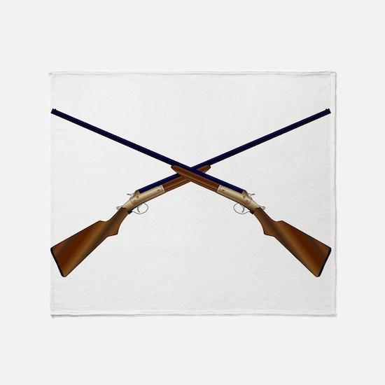 Crossed Chotguns Throw Blanket