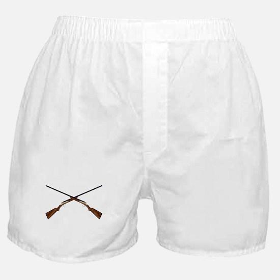 Crossed Chotguns Boxer Shorts