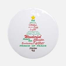 Isaiah 96 Round Ornament