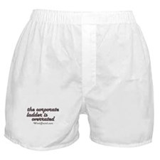 Corporate Ladder Overrated Boxer Shorts