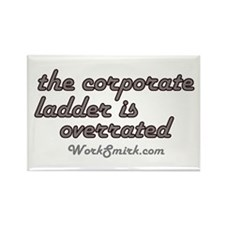 Corporate Ladder Overrated Rectangle Magnet