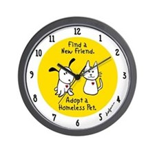 Find a New Friend Wall Clock