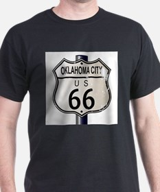 Oklahoma City Route 66 Traffic Sign T-Shirt