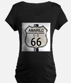 Amarillo Route 66 Sign Maternity T-Shirt