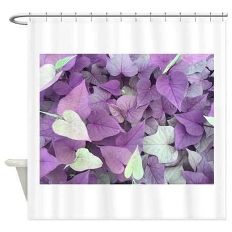 Hearts Of Purple And Green Shower Curtain By Admin Cp136718777