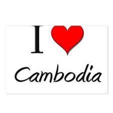 I Love Cambodia Postcards (Package of 8)