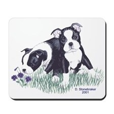 Boston Terrier Puppies Mousepad