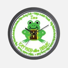 FAT FROG with a BIBLE Wall Clock
