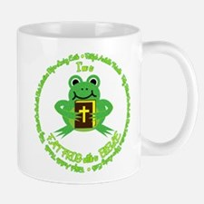 FAT FROG with a BIBLE Mugs
