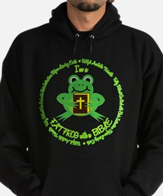 FAT FROG with a BIBLE Hoodie