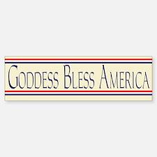 Goddess Bless America Car Car Sticker