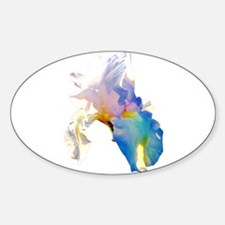 Painted Iris White Decal