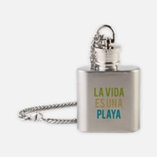 Life's a Beach Flask Necklace
