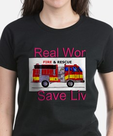 Real Women Save Lives Fitted Shirt T-Shirt