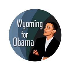 Wyoming for Obama Extra Large Button
