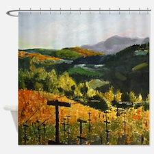 Coastal Sonoma Vineyard Shower Curtain
