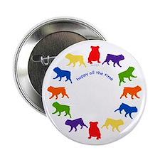 Happy Bulldog Button