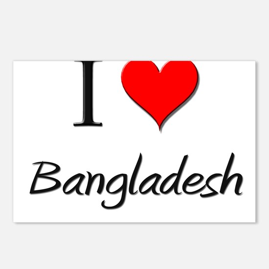 I Love Bangladesh Postcards (Package of 8)