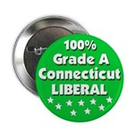 100% Connecticut Liberal Button