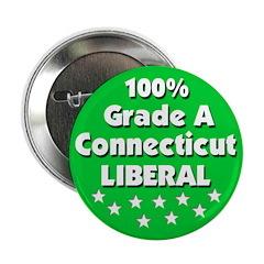 100% Connecticut Liberal Button
