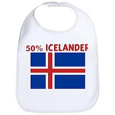 50 PERCENT ICELANDER Bib