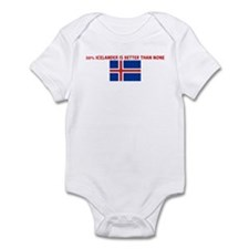 50 PERCENT ICELANDER IS BETTE Infant Bodysuit